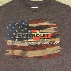 GM OFFICIAL GRAY TSHIRT CHEVROLET AMERICA MUSCLE S